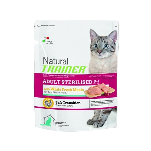 Корм для кошек TRAINER Natural Adult cat Sterilised White Fresh Meats dry (0.3 кг)