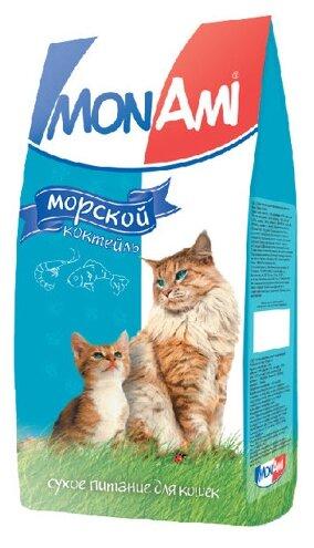 MonAmi Сухой корм для кошек Морской коктейль (0.4 кг) 10 шт.