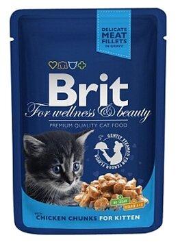 Brit Premium Pouches Kitten (0.1 кг) 1 шт.