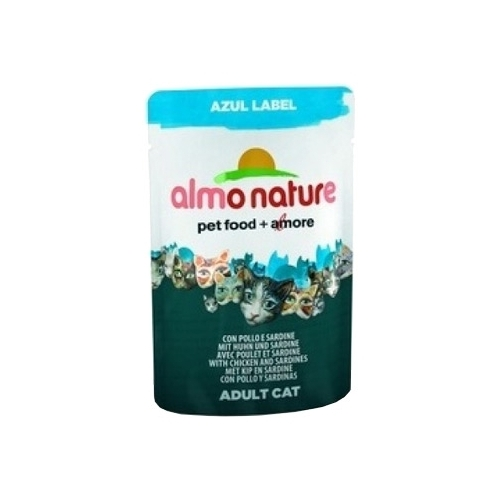 Корм для кошек Almo Nature Azul Label Adult Cat Chicken and Sardines (0.07 кг) 24 шт.