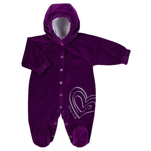 Купить Комбинезон lucky child размер 20 (62-68), фиолетовый, Комбинезоны