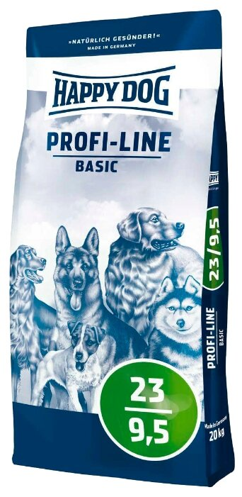 Корм для собак Happy Dog Profi-Line Basic 23/9,5 20 кг