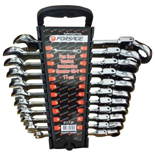 цена на Набор гаечных ключей Forsage (11 предм.) 51112F черный/серебристый