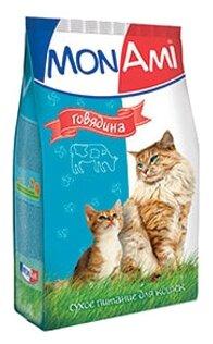 MonAmi Сухой корм для кошек Говядина (0.4 кг) 1 шт.