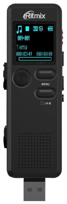 Диктофон RITMIX RR-610 4 Gb, черный [15118898]