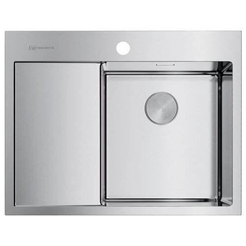 Фото - Врезная кухонная мойка 65 см OMOIKIRI Akisame 65-IN-R нержавеющая сталь врезная кухонная мойка 65 см omoikiri akisame 65 in r нержавеющая сталь