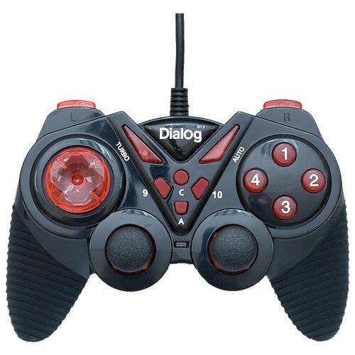 Геймпад Dialog GP-A13 черный/красный