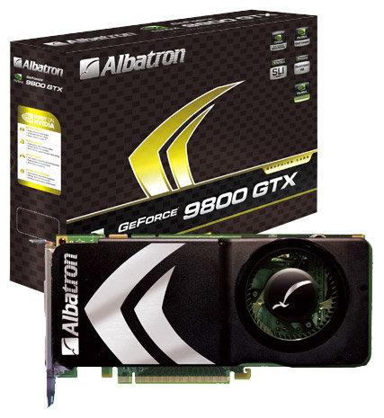 Albatron GeForce 9800 GTX 675Mhz PCI-E 2.0 1024Mb 2200Mhz 256 bit 2xDVI TV HDCP YPrPb
