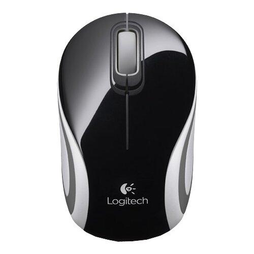 Мышь Logitech Wireless Mini Mouse M187 Black-White USB цена 2017