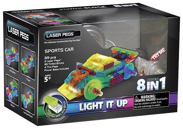 Конструктор Laser Pegs Power Block PB1410B Спортивный автомобиль