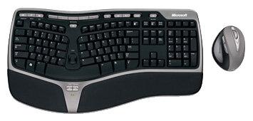 Клавиатура и мышь Microsoft Natural Wireless Ergonomic Desktop 7000 Black-Grey USB