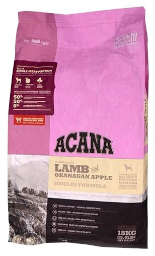 Корм для собак Acana Lamb & Okanagan Apple
