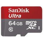 Карта памяти SanDisk Ultra microSDXC Class 10 UHS-I 48MB/s + SD adapter