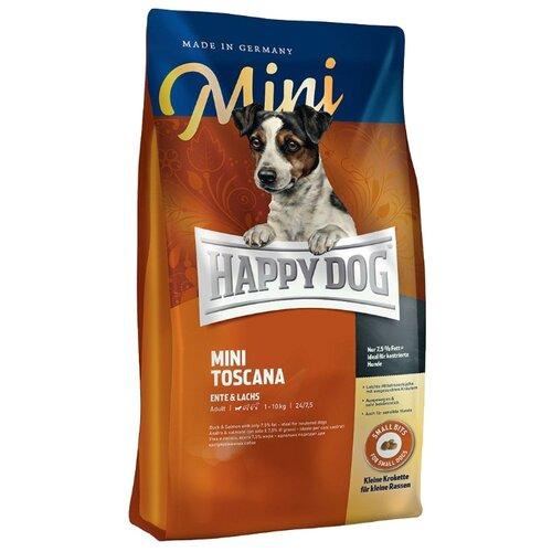 Корм для собак Happy Dog (4 кг) Supreme - Mini Toscana с уткой и лососемКорма для собак<br>