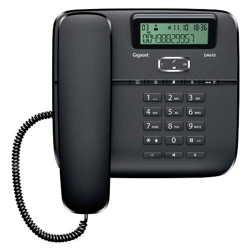 Телефон Gigaset DA610 черныйПроводные телефоны<br>