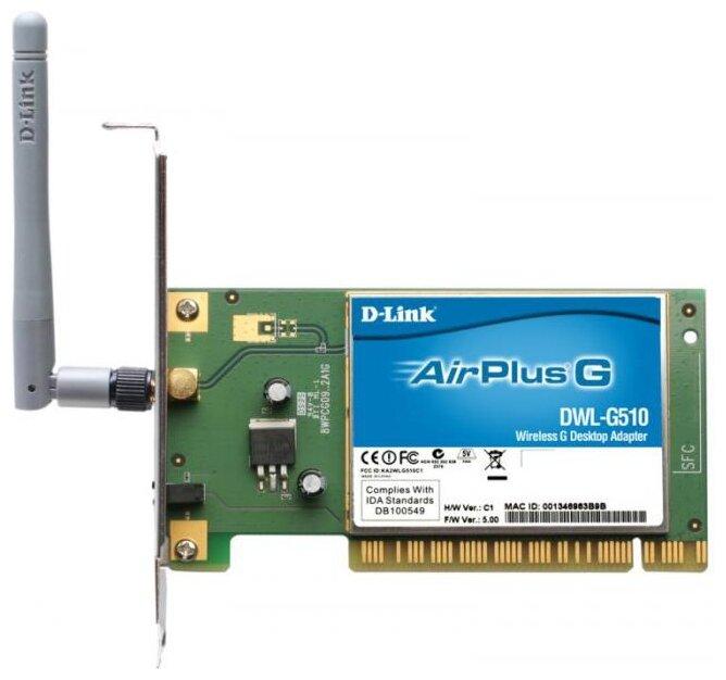 Wi-Fi адаптер D-link DWL-G510