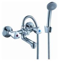 Двухрычажный смеситель для ванны с душем Rossinka Silvermix M02-81