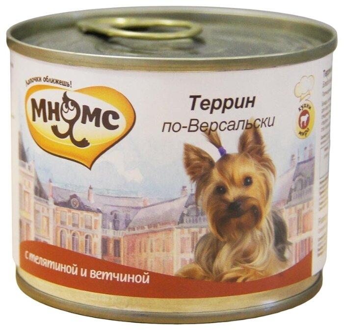 Корм для собак Мнямс Террин по-версальски для мелких пород собак (телятина с ветчиной)