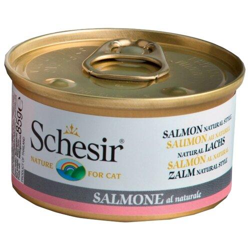 Влажный корм для кошек Schesir с лососем 85 г (кусочки в соусе)