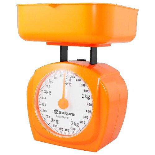Кухонные весы Sakura SA-6017 оранжевый