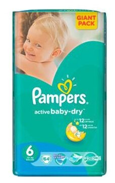 Pampers Active Baby-Dry 6 (15+ кг)