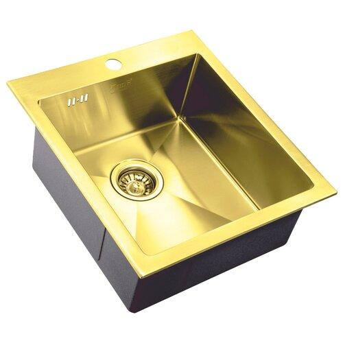 Фото - Врезная кухонная мойка 45 см ZorG PVD SZR-4551 BRONZE бронза врезная кухонная мойка 78 см zorg szr 78 2 51 r bronze бронза
