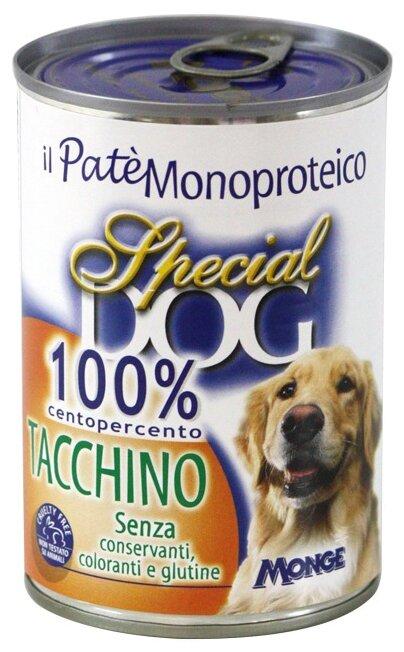 Корм для собак Special Dog Паштет из 100% мяса Индейки (0.400 кг) 3 шт.
