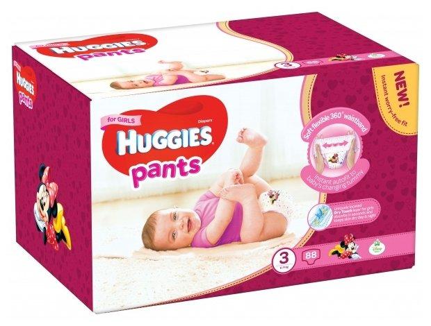Huggies трусики для девочек 3 (6-11 кг) 88 шт.
