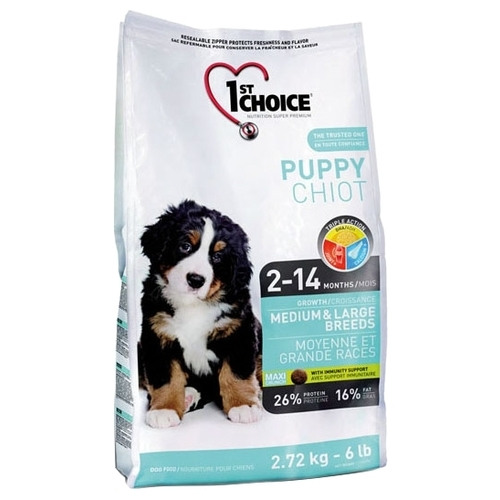 Корм для собак 1st Choice Chicken Formula MEDIUM and LARGE BREEDS for PUPPIES (2.72 кг)