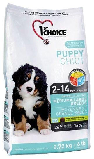 Корм для собак 1st Choice Chicken Formula MEDIUM and LARGE BREEDS for PUPPIES