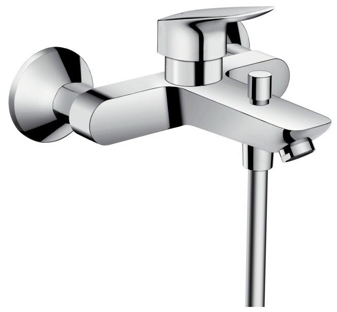 Смеситель для ванны с душем hansgrohe Logis 71400000 однорычажный хром