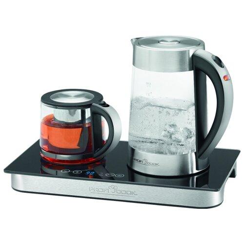 Чайник ProfiCook PC-TKS 1056, серебристый/черный недорого