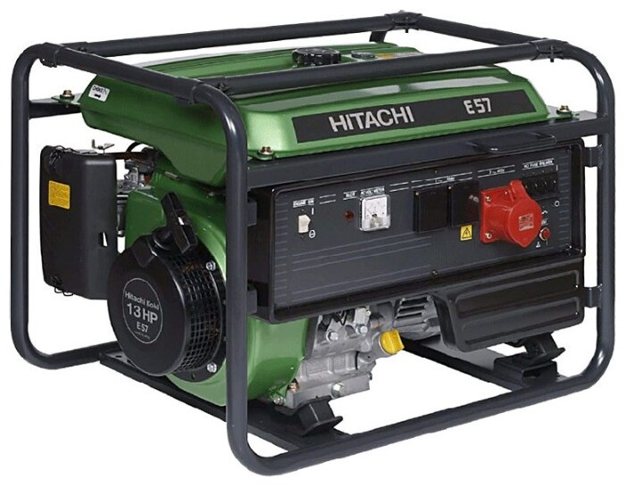 Бензиновый генератор Hitachi E57 (3P) (4200 Вт)