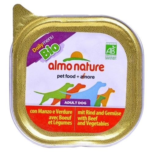 Almo Nature DailyMenu Bio Pate Adult Dog Beef and Vegetables (0.1 кг) 32 шт. Корма для собак