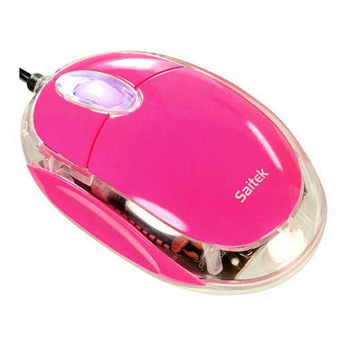 Мышь Saitek Notebook Optical Mouse Pink USB