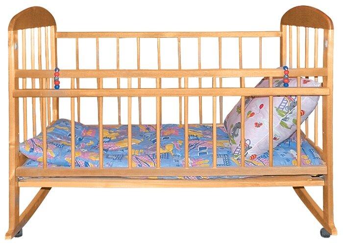 Кроватка Уренская Мебельная Фабрика Мишутка 8 (качалка), на полозьях