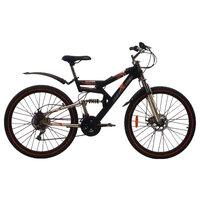 Велосипед Challenger Genesis Lux Fs 26 D (2017) Черно-Зеленый