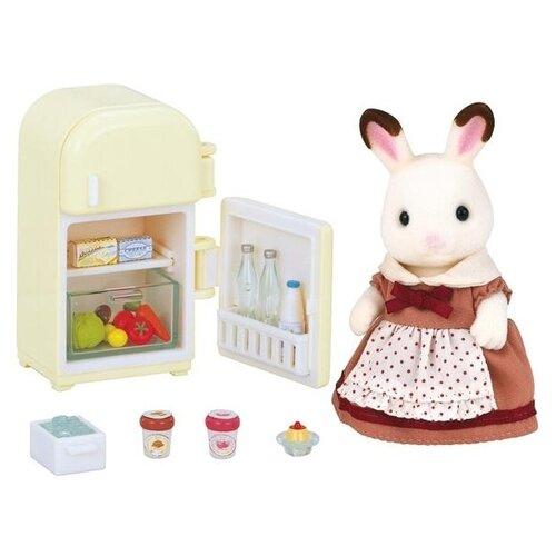 Купить Игровой набор Sylvanian Families Мама кролик и холодильник 2202/5014, Игровые наборы и фигурки
