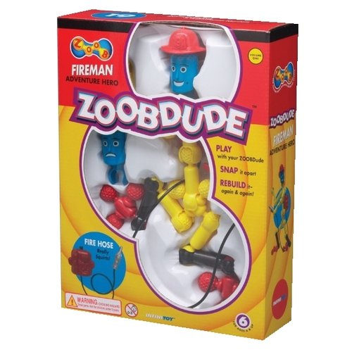 Конструктор Zoob ZOOBDude 12001 Fireman zoob glow alien creature