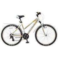 "Велосипед Для Взрослых Stels Miss 6300 V 26 (2017) V010 17.5"" Белый/серый/жёлтый"