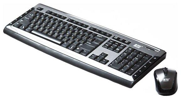 Клавиатура и мышь BTC 9089ARF III Black USB