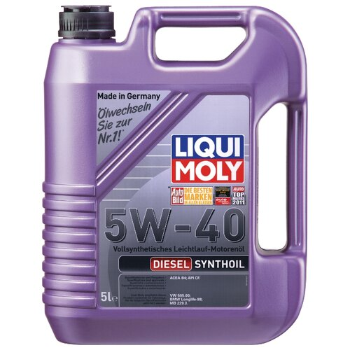 Моторное масло LIQUI MOLY Diesel Synthoil 5W-40 5 л