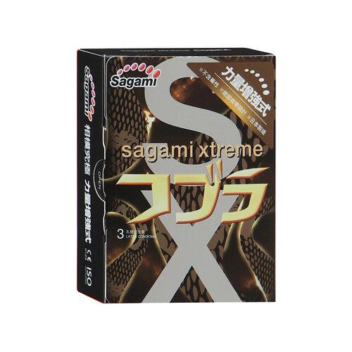 Презервативы Sagami Xtreme Cobra (3 шт.) sagami 6 fit v premium 12шт презервативы супер облегающие латекс 0 06 мм