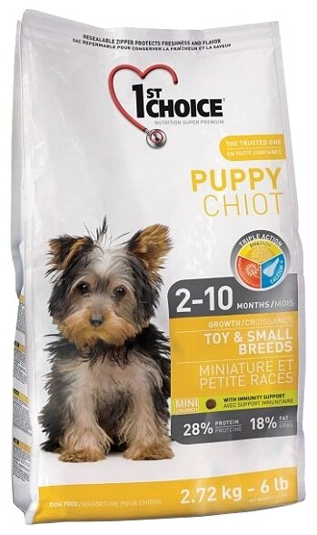 Корм для собак 1st Choice Chicken Formula TOY and SMALL BREEDS for PUPPIES