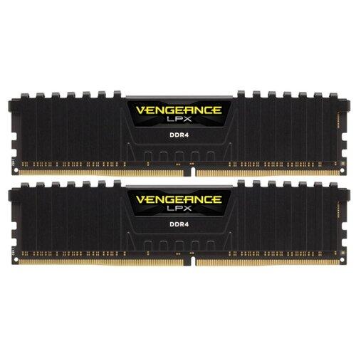 Оперативная память Corsair Vengeance LPX DDR4 3200 (PC 25600) DIMM 288 pin, 16 ГБ 2 шт. 1.35 В, CL 16, CMK32GX4M2B3200C16