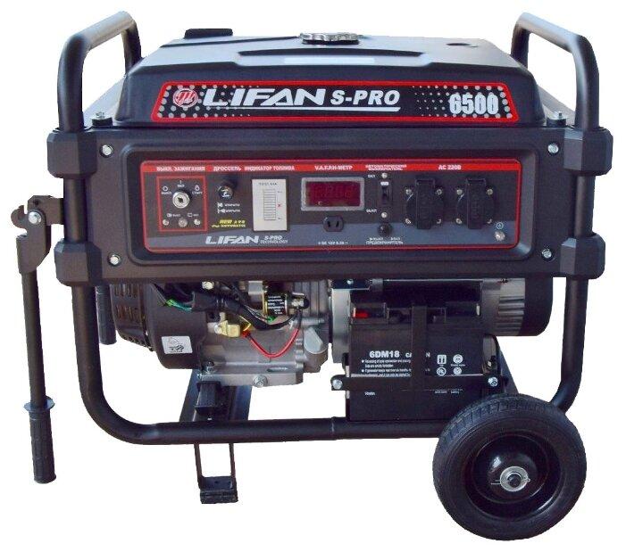 Бензиновый генератор LIFAN S-PRO 6500 (6000 Вт)