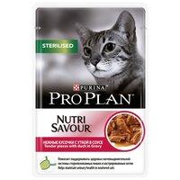 Корм для кошек Purina Pro Plan (0.085 кг) 1 шт. NutriSavour Sterilised feline with Duck in gravy