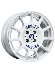 Диск Sparco Terra 7x16/5x100 ЕТ35 D63,3 White + Blue Lettering - фото 1