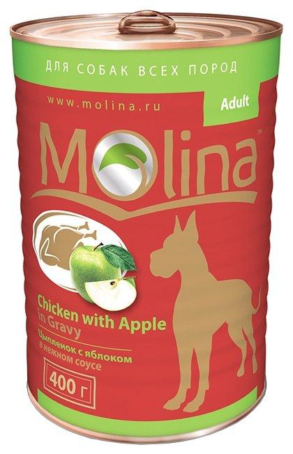 Корм для собак Molina Консервы для собак Цыпленок с яблоком в нежном соусе