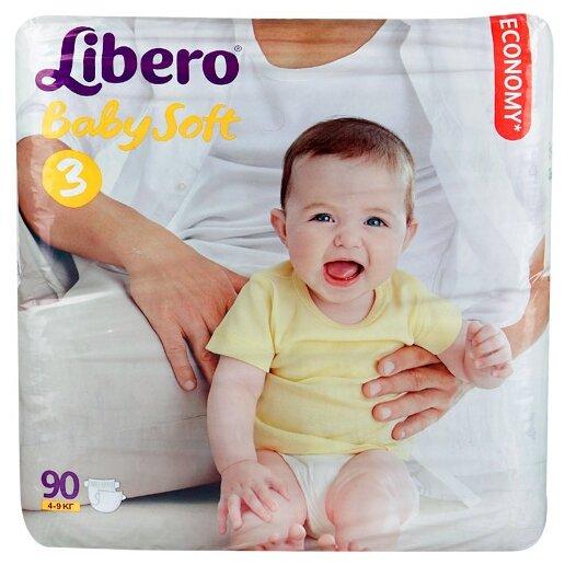 Libero подгузники Baby Soft 3 (4-9 кг) 90 шт.